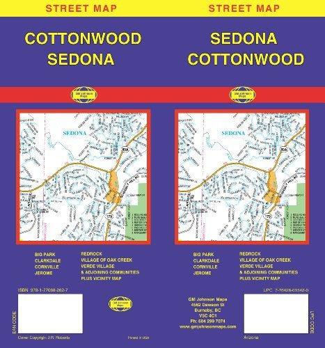 us topo - Sedona/ Cottonwood, AZ - Wide World Maps & MORE! - Book - Wide World Maps & MORE! - Wide World Maps & MORE!