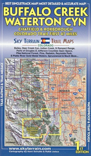 Buffalo Creek & Wateron Canyon Trail Map 1st Edition