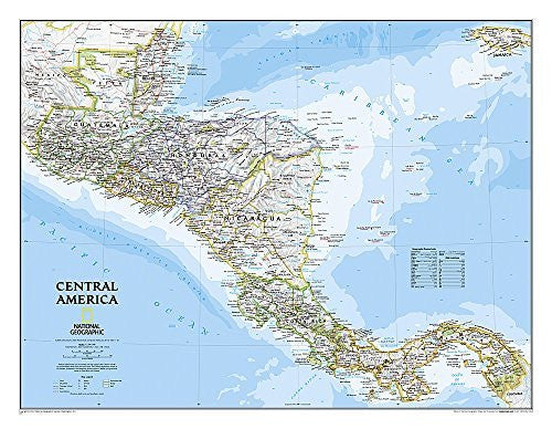 us topo - Central America Classic [Tubed] (National Geographic Reference Map) - Wide World Maps & MORE! - Book - National Geographic - Wide World Maps & MORE!