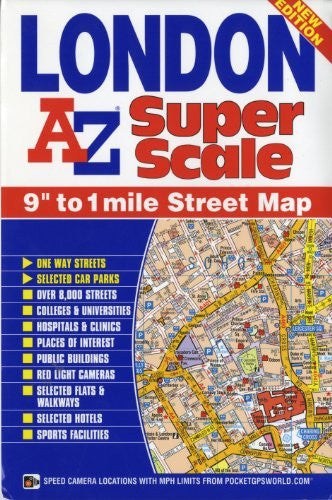 us topo - A-Z London Superscale Map (Street Map) - Wide World Maps & MORE! - Book - Wide World Maps & MORE! - Wide World Maps & MORE!
