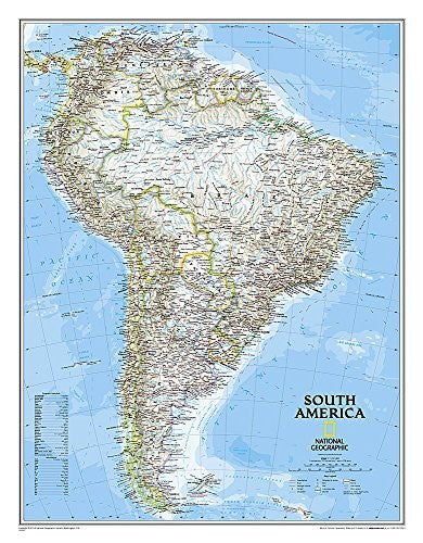 us topo - South America Classic [Tubed] (National Geographic Reference Map) - Wide World Maps & MORE! - Book - National Geographic - Wide World Maps & MORE!