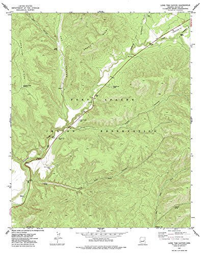 us topo - LONG TOM CANYON, Arizona 7.5' - Wide World Maps & MORE! - Map - Wide World Maps & MORE! - Wide World Maps & MORE!