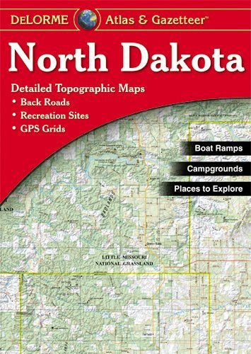 North Dakota Atlas & Gazetteer - Wide World Maps & MORE! - Map - DeLorme - Wide World Maps & MORE!