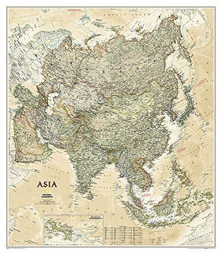 us topo - Asia Executive [Tubed] (National Geographic Reference Map) - Wide World Maps & MORE! - Book - Wide World Maps & MORE! - Wide World Maps & MORE!