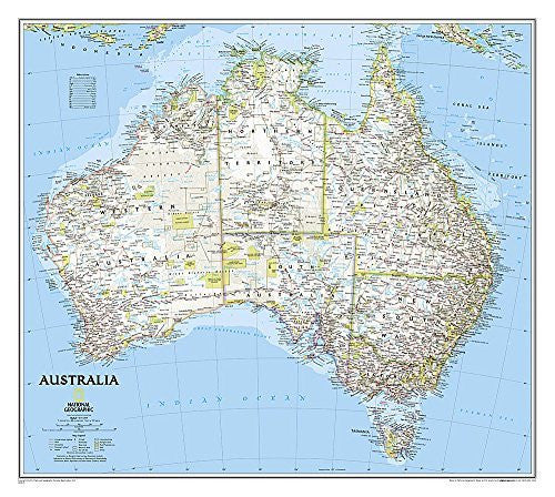 us topo - Australia Classic [Laminated] (National Geographic Reference Map) - Wide World Maps & MORE! - Book - National Geographic - Wide World Maps & MORE!