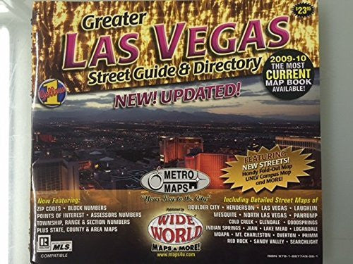 us topo - Greater Las Vegas Street Guide and Directory (2009-10 Edition) - Wide World Maps & MORE! - Book - Wide World Maps & MORE! - Wide World Maps & MORE!