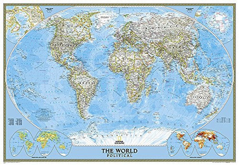 World Classic [Enlarged and Laminated] (National Geographic Reference Map) - Wide World Maps & MORE! - Map - National Geographic Maps - Wide World Maps & MORE!