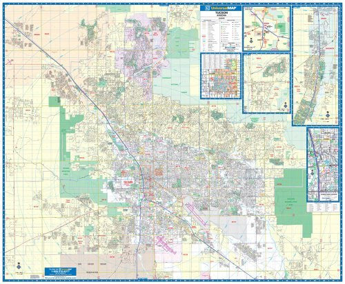 us topo - 2010 Tucson, AZ (City Wall Maps) - Wide World Maps & MORE! - Book - Wide World Maps & MORE! - Wide World Maps & MORE!