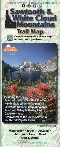 Sawtooth & White Cloud Mountains Trail Map