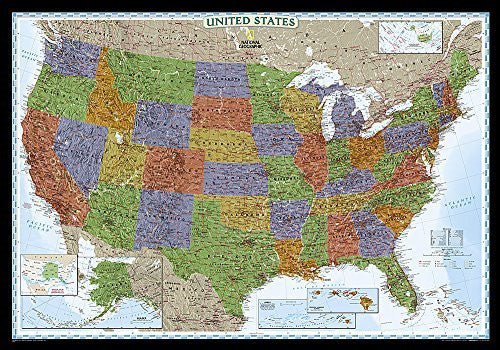 us topo - United States Decorator [Laminated] (National Geographic Reference Map) - Wide World Maps & MORE! - Book - National Geographic - Wide World Maps & MORE!