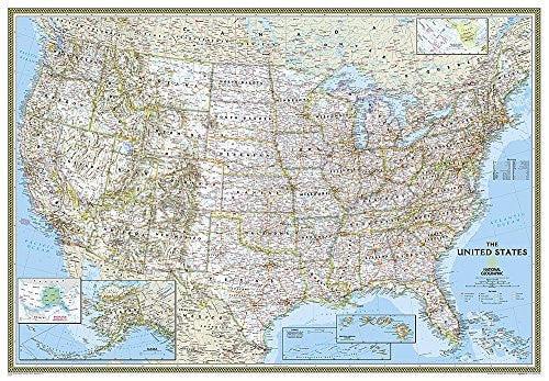 us topo - United States Classic [Enlarged and Laminated] (National Geographic Reference Map) - Wide World Maps & MORE! - Map - National Geographic Maps - Wide World Maps & MORE!