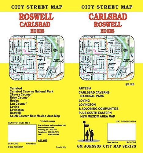 Carlsbad : Roswell : Hobbs - Wide World Maps & MORE! - Book - Wide World Maps & MORE! - Wide World Maps & MORE!