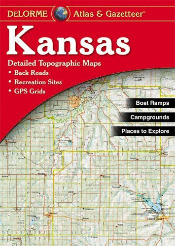 us topo - Kansas Atlas & Gazetteer - Wide World Maps & MORE! - Book - Delorme - Wide World Maps & MORE!