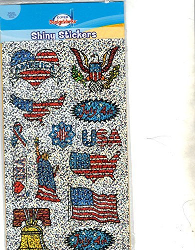 us topo - July 4th Shiny Stickers - Wide World Maps & MORE! - Art and Craft Supply - Dover DesignWorks - Wide World Maps & MORE!