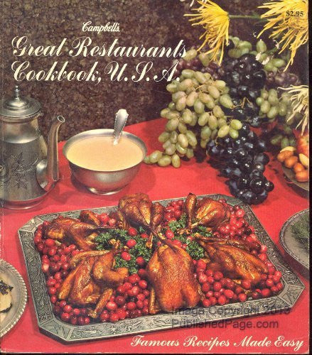 us topo - Campbells Great Restaurants Cookbook U.S.A. - Wide World Maps & MORE! - Book - Wide World Maps & MORE! - Wide World Maps & MORE!