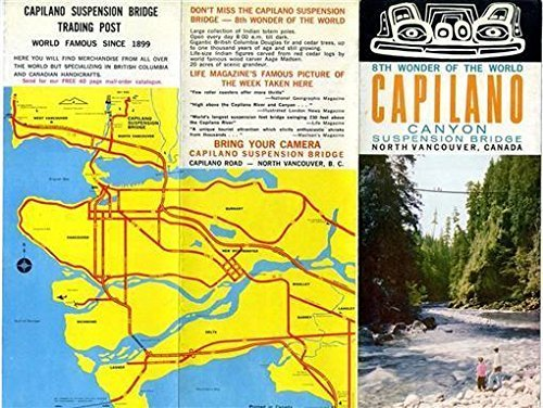 Capilano Canyon Suspension Bridge Brochure North Vancouver British Columbia 1960