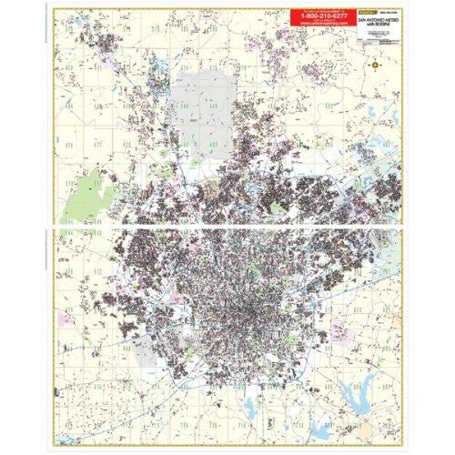 San Antonio TX Wall Map Railed (Mapsco Wall Maps) - Wide World Maps & MORE! - Book - Universal Map - Wide World Maps & MORE!