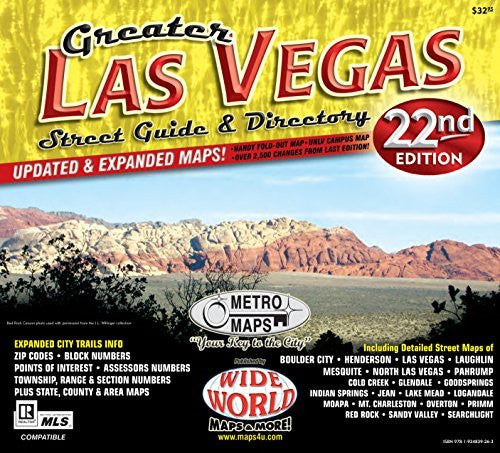 us topo - Greater Las Vegas Street Guide & Directory - Wide World Maps & MORE! - Office Product - Metro Maps - Wide World Maps & MORE!