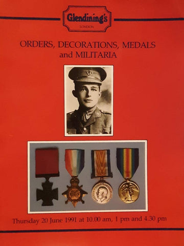 Glendining's Orders, Decorations, Medals and Militaria June 1991