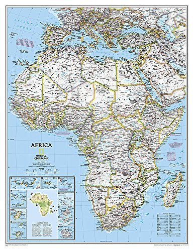 Africa Classic [Enlarged and Tubed] (National Geographic Reference Map)