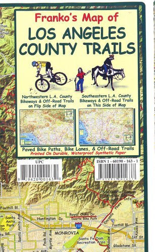 us topo - Franko's Map of Los Angeles County Trails - Wide World Maps & MORE! - Book - Wide World Maps & MORE! - Wide World Maps & MORE!