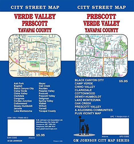 Prescott/Verde Valley, Arizona Street Map