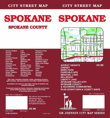 us topo - Spokane, WA - Wide World Maps & MORE! - Book - Wide World Maps & MORE! - Wide World Maps & MORE!