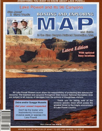 Lake Powell and Its 96 Canyons Boating and Exploring Map