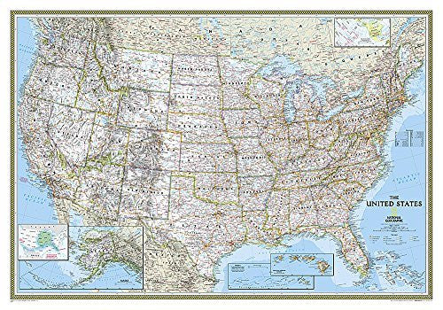 United States Classic [Tubed] (National Geographic Reference Map)