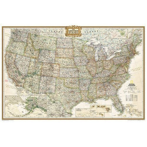 National Geographic Maps RE01020387 United States Executive Poster Size Tubed
