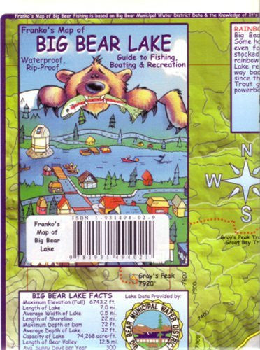 us topo - Big Bear Lake, CA Map by Franko - Wide World Maps & MORE! - Book - Wide World Maps & MORE! - Wide World Maps & MORE!
