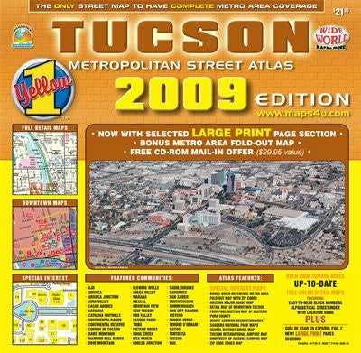 us topo - Tucson Metropolitan Street Atlas Standard Edition - Wide World Maps & MORE! - Map - Wide World Maps & MORE! - Wide World Maps & MORE!