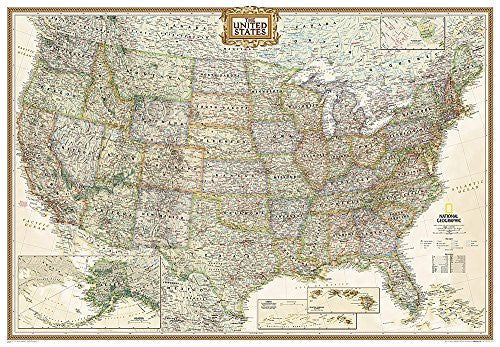 us topo - United States Executive [Enlarged and Tubed] (National Geographic Reference Map) - Wide World Maps & MORE! - Book - National Geographic - Wide World Maps & MORE!