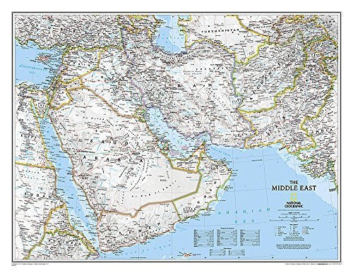 us topo - Middle East Classic [Laminated] - Wide World Maps & MORE! - Book - National Geographic Maps - Wide World Maps & MORE!
