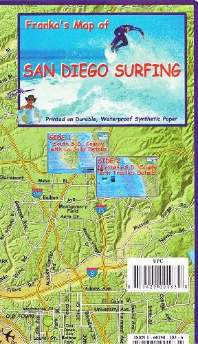 us topo - Franko's Map of San Diego Surfing - Wide World Maps & MORE! - Book - FrankosMaps - Wide World Maps & MORE!