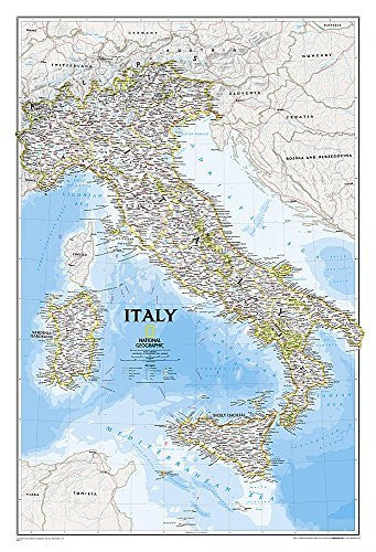 us topo - Italy Classic [Tubed] (National Geographic Reference Map) - Wide World Maps & MORE! - Book - National Geographic - Wide World Maps & MORE!
