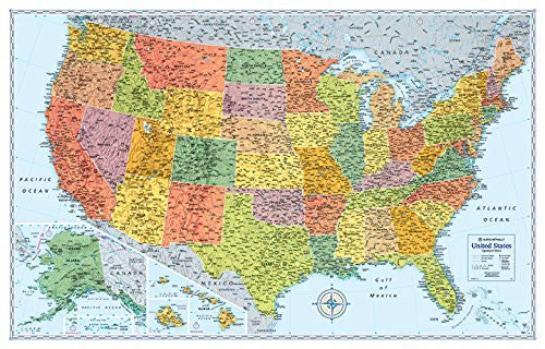 us topo - Rand McNally Signature United States Wall Map - Wide World Maps & MORE! - Book - Wide World Maps & MORE! - Wide World Maps & MORE!