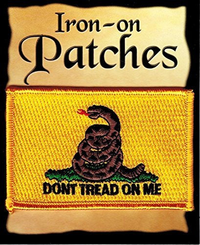 us topo - Gadsden Flag: An Embroidered Iron-On Patch (Two-Pack) - Wide World Maps & MORE! - Art and Craft Supply - Flag It - Wide World Maps & MORE!