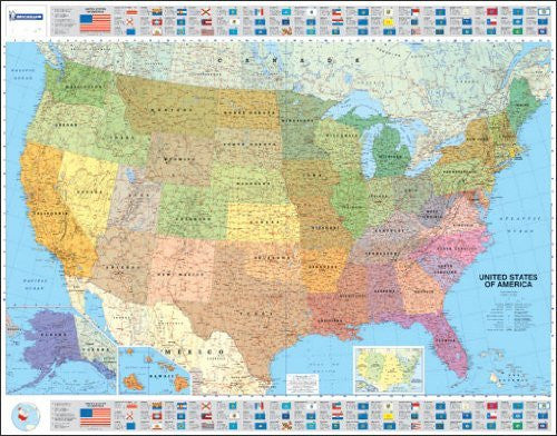 Michelin Map USA Political  15761  (Laminated, Rolled) (Maps/Wall (Michelin))