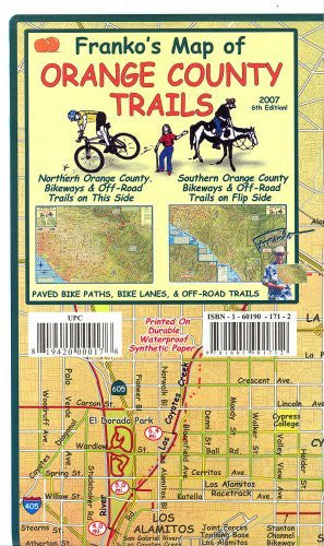 Franko's Map of Orange County Trails - Wide World Maps & MORE! - Book - FrankosMaps - Wide World Maps & MORE!