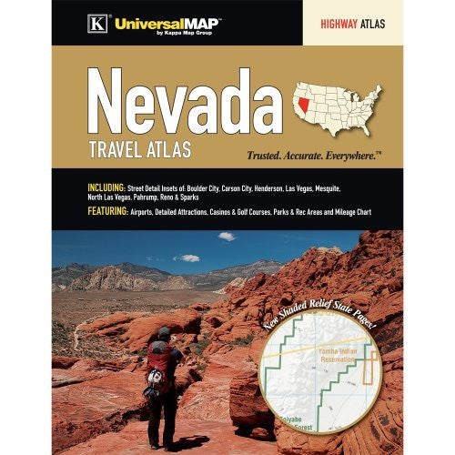 Nevada State Travel Atlas - Wide World Maps & MORE! - Book - Wide World Maps & MORE! - Wide World Maps & MORE!