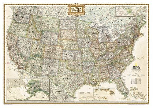 United States Executive - Laminated by National Geographic. Size 30.00 X 43.00 Art Poster Print