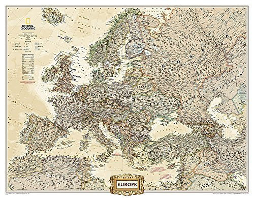 Europe Executive [Enlarged and Tubed] (National Geographic Reference Map)