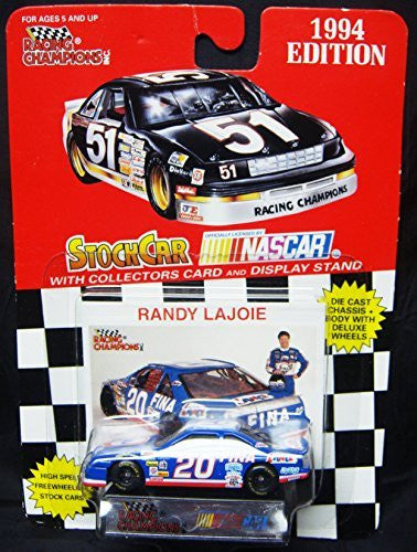 us topo - 1994 Racing Champions #20 RANDY LAJOIE Nascar 1:64 Stock Car with Bonus Signature/Photo Card and Display Stand-New in Card - Wide World Maps & MORE! - Toy - Racing Champions - Wide World Maps & MORE!