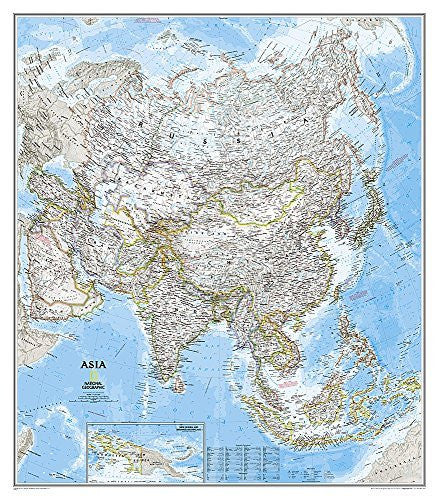 us topo - Asia Classic [Tubed] (National Geographic Reference Map) - Wide World Maps & MORE! - Book - National Geographic - Wide World Maps & MORE!