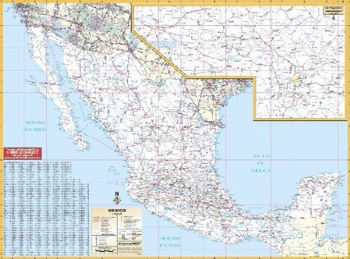 Universal Map 762538376 Mexico Wall Map - Wide World Maps & MORE! - Office Product - Universal Map - Wide World Maps & MORE!