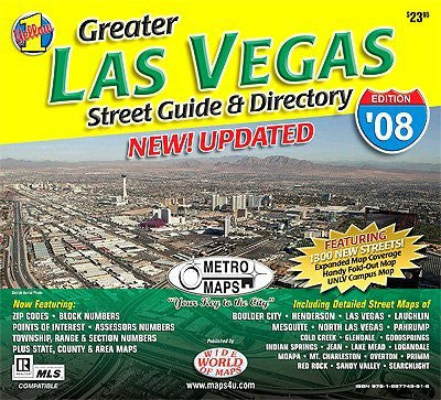 us topo - Greater Las Vegas Street Guide & Directory (Yellow 1 Series of Maps and Atlases) - Wide World Maps & MORE! - Map - Wide World Maps & MORE! - Wide World Maps & MORE!