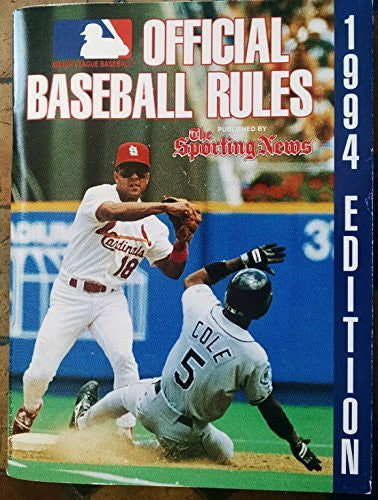 us topo - Official Baseball Rules 1994 - Wide World Maps & MORE! - Book - Wide World Maps & MORE! - Wide World Maps & MORE!