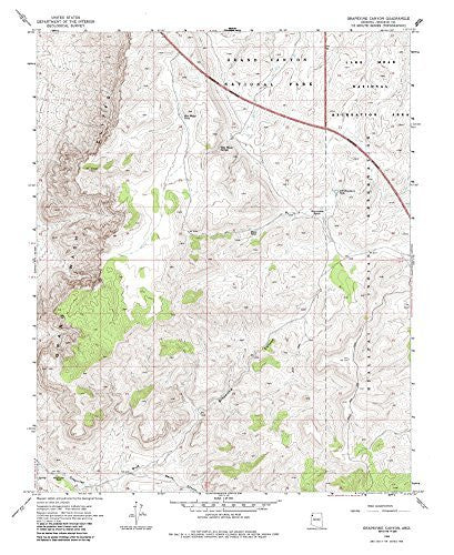us topo - Grapevine Canyon, Arizona 7.5' - Wide World Maps & MORE! - Book - Wide World Maps & MORE! - Wide World Maps & MORE!