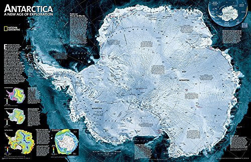 Antarctica Satellite [Tubed] (National Geographic Reference Map)